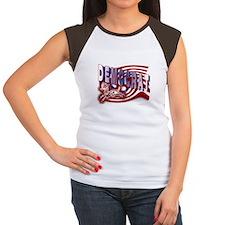 Democrat Flag Donkey t-shirt Women's Cap Sleeve T-