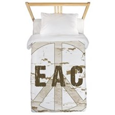 Distressed Peace Twin Duvet