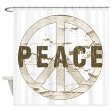 Distressed Peace Shower Curtain