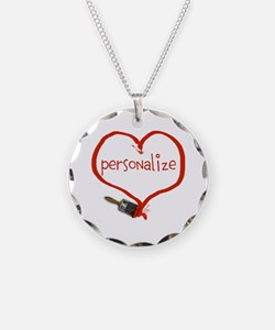 Customizable Painted Heart Necklace