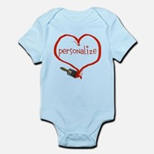 Customizable Painted Heart Infant Bodysuit