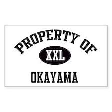 Property of Okayama Rectangle Decal