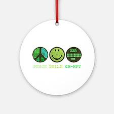 Peace Smile 225 Ornament (Round)