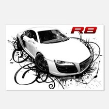 Cute Exotic cars Postcards (Package of 8)