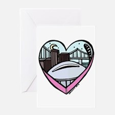 New Orleans Valentine's Candy Heart Greeting Card