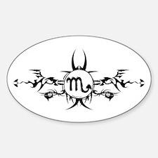 Tribal Scorpio Symbol Oval Decal