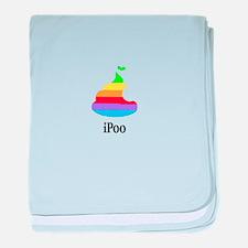 Cute Steve jobs apple logo baby blanket