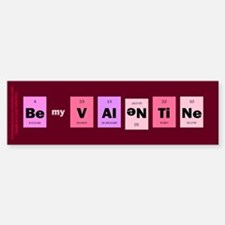 Geek Be My Valentine Bumper Bumper Sticker