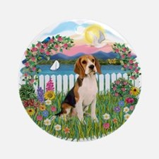 Garden-Shore-Beagle#3 Ornament (Round)