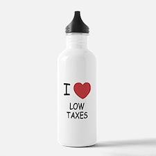 I heart low taxes Water Bottle