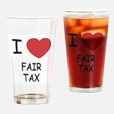I heart fair tax Drinking Glass
