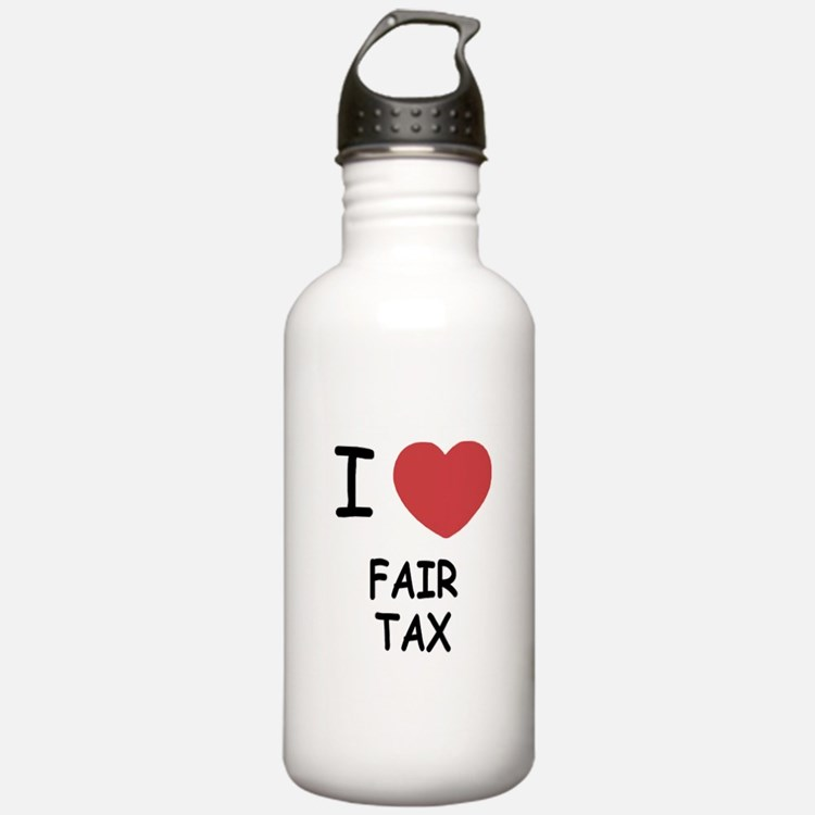 I heart fair tax Water Bottle