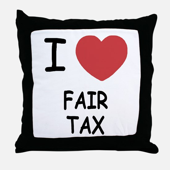 I heart fair tax Throw Pillow