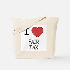 I heart fair tax Tote Bag