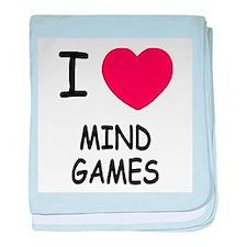 I heart mind games baby blanket