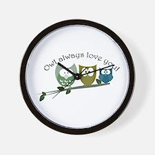 Owl always love you! Wall Clock