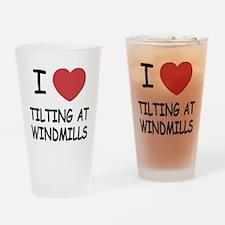 I heart tilting at windmills Drinking Glass