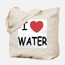 I heart water Tote Bag