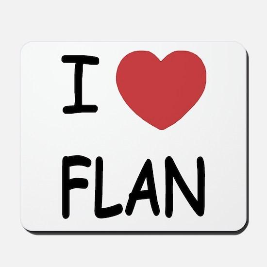 I heart flan Mousepad
