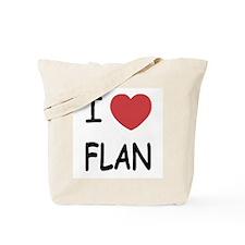 I heart flan Tote Bag