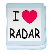 I heart radar baby blanket