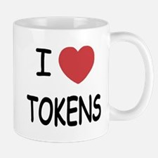 I heart tokens Mug