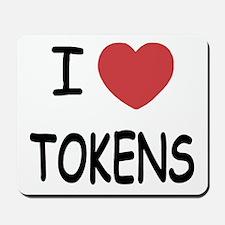 I heart tokens Mousepad
