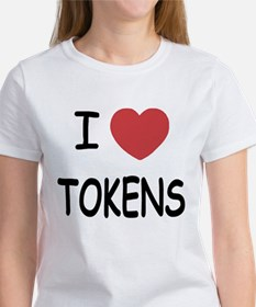 I heart tokens Women's T-Shirt