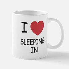 I heart sleeping in Mug