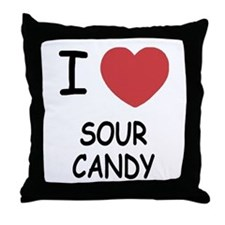 I heart sour candy Throw Pillow