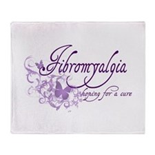Fibromyalgia / Cure Throw Blanket
