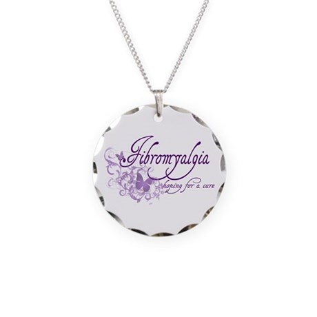 Fibromyalgia / Cure Necklace Circle Charm