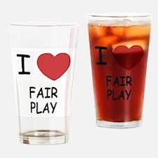 I heart fair play Drinking Glass