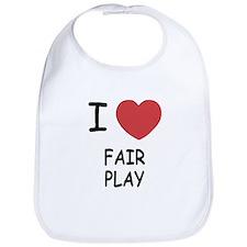 I heart fair play Bib