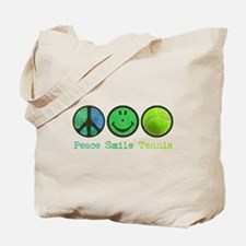 Smile and TENNIS Tote Bag