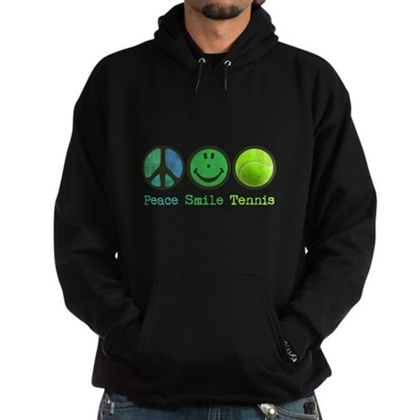 Smile and TENNIS Hoodie (dark)