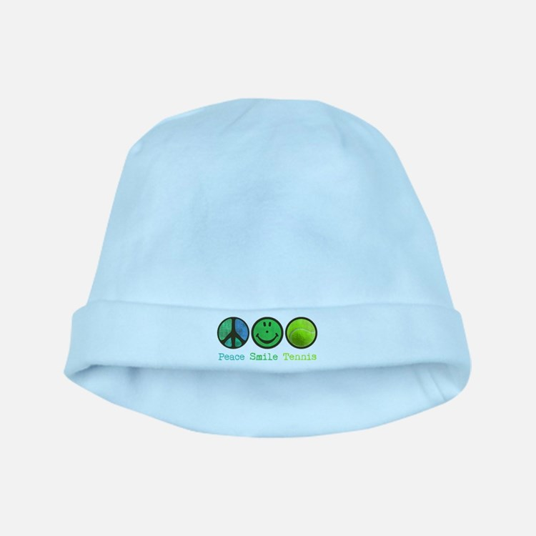 Smile and TENNIS baby hat