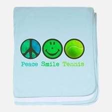 Smile and TENNIS baby blanket