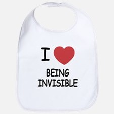 I heart being invisible Bib