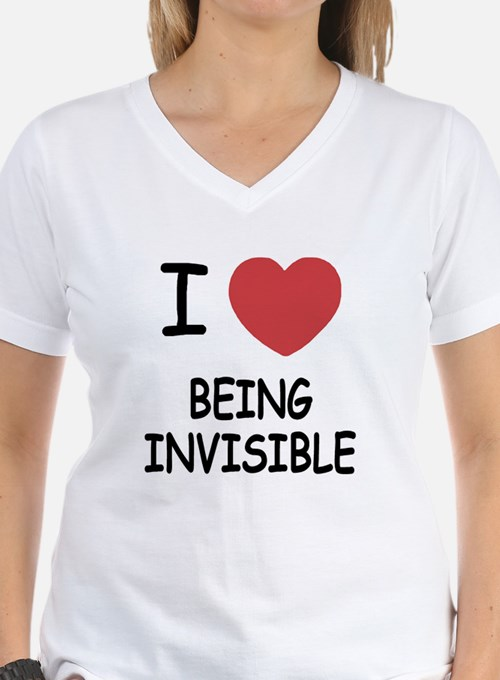 I heart being invisible Shirt