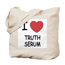 I heart truth serum Tote Bag