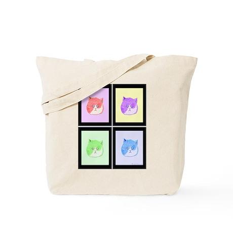 Pop Art Cats Tote Bag