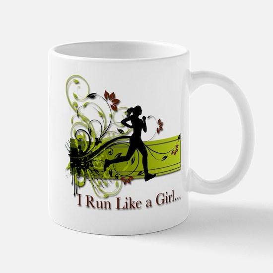 I run like a girl Mug