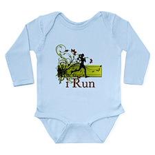 iRun Decorative Running Girl Long Sleeve Infant Bo
