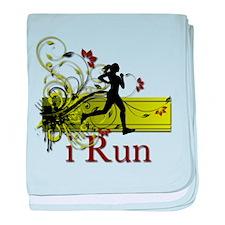 iRun Decorative Running Girl baby blanket