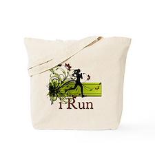 iRun Decorative Running Girl Tote Bag