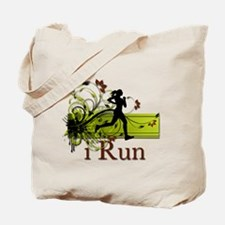 iRun Decorative Running Girl Tote Bag