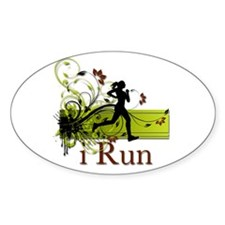 iRun Decorative Running Girl Decal
