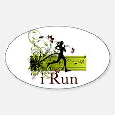 iRun Decorative Running Girl Decal