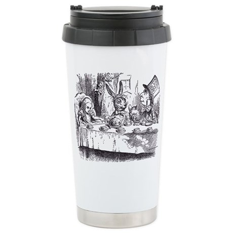 Mad Tea Party Stainless Steel Travel Mug